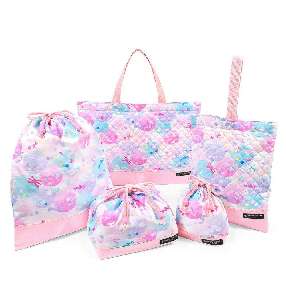 入園入学セット キルティング ふわふわキュートなキャンディポップ(ピンク)_1