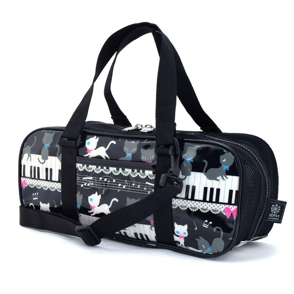 画材・絵の具バッグ ピアノの上で踊る黒猫ワルツ(ブラック)_1