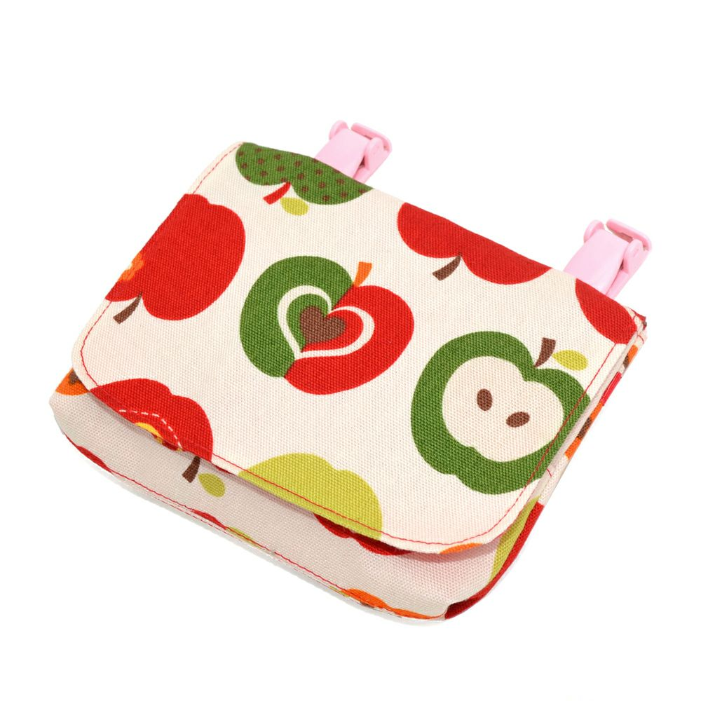 【ベーシックタイプ】移動ポケット・付けポケット おしゃれリンゴのひみつ(アイボリー)_1