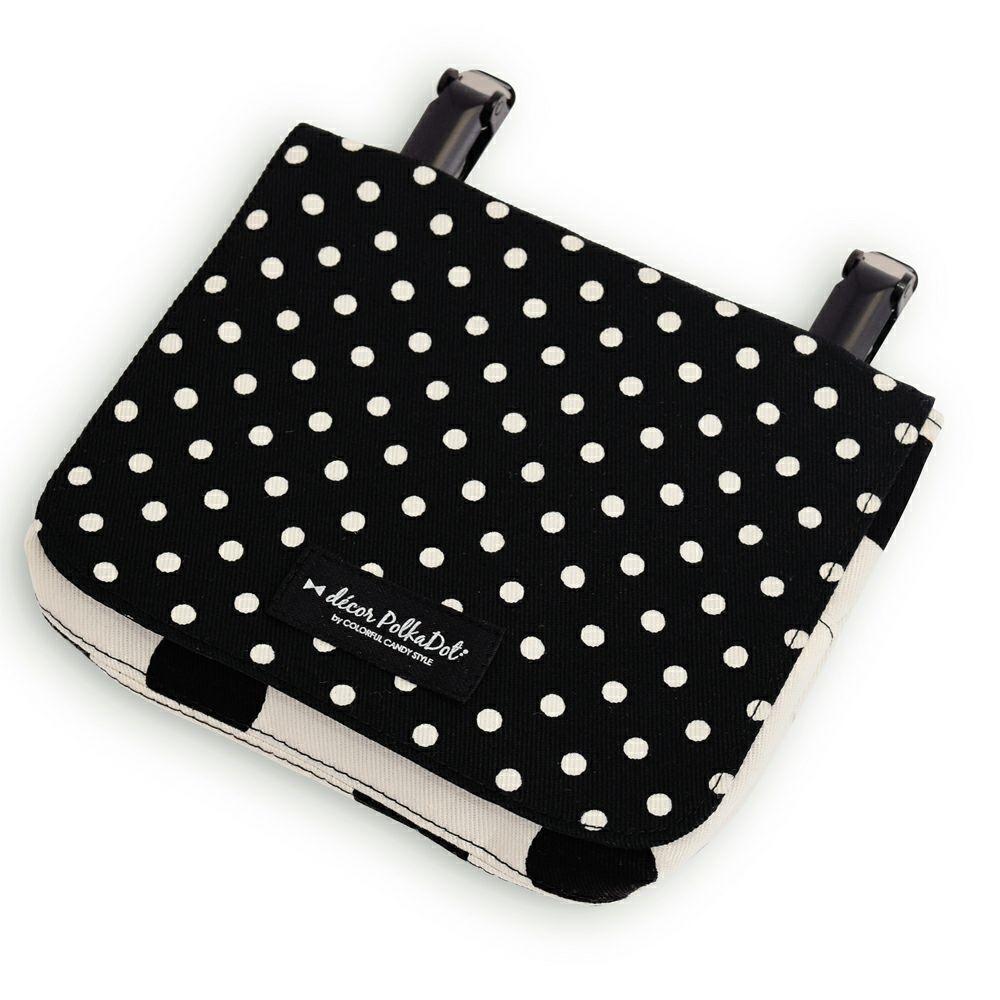 decor PolkaDot【ラージ】移動ポケット・付けポケットpolka dot large(twill・white)xpolka dot small(twill・black)_1