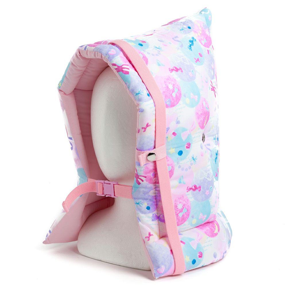 防災頭巾(椅子固定ゴム付き) ふわふわキュートなキャンディポップ_1