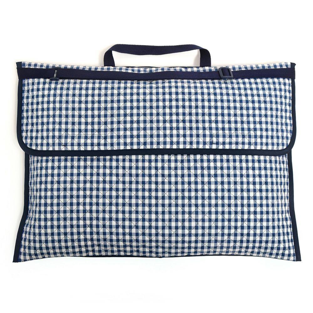 防災頭巾カバー キルティング(背板幅36cmタイプ) チェック大・紺_1