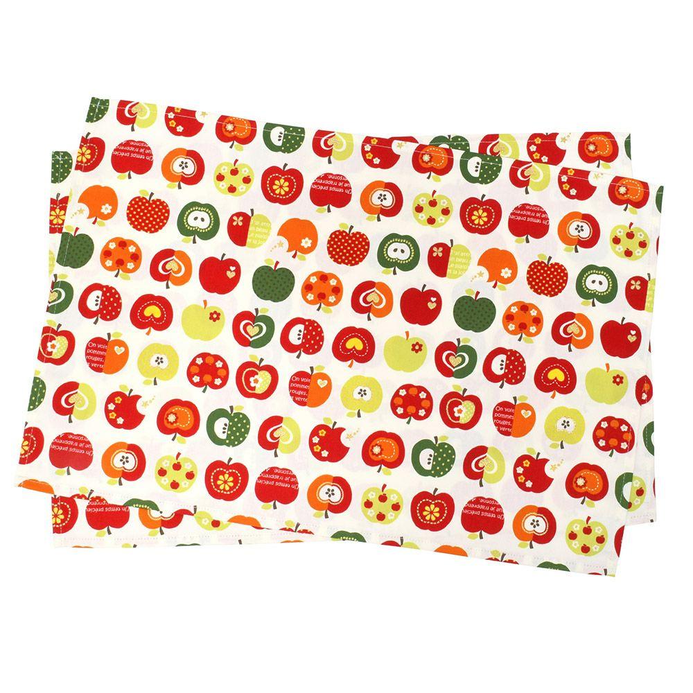 ランチョンマット ラージタイプ おしゃれリンゴのひみつ(アイボリー)_1