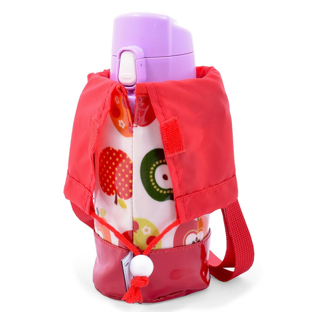 水筒カバー スモールタイプ おしゃれリンゴのひみつ(アイボリー)_1