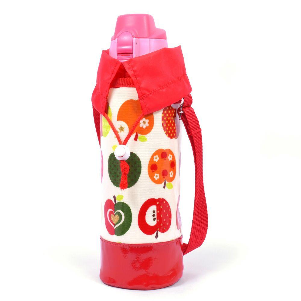 水筒カバー ラージタイプ おしゃれリンゴのひみつ(アイボリー)_1