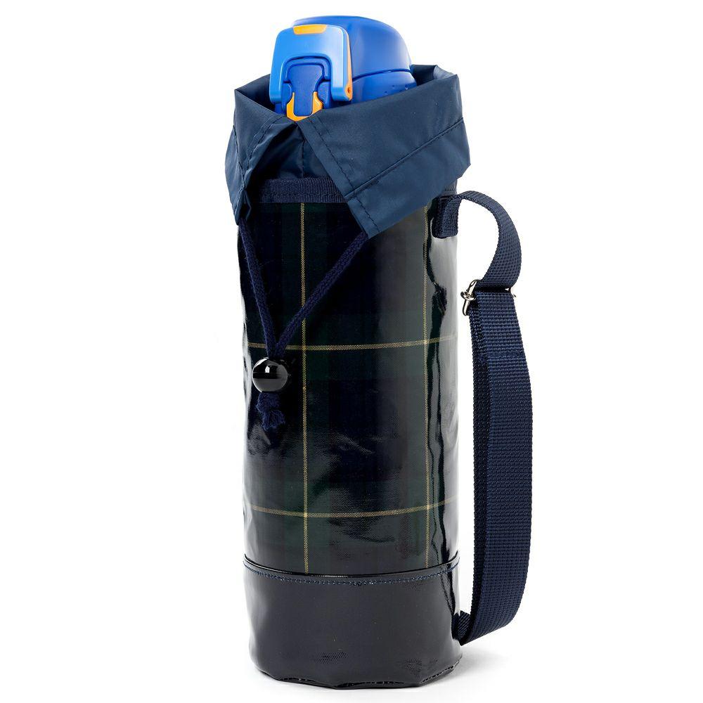 水筒カバー ラージタイプ タータンチェック・ダークグリーン_1