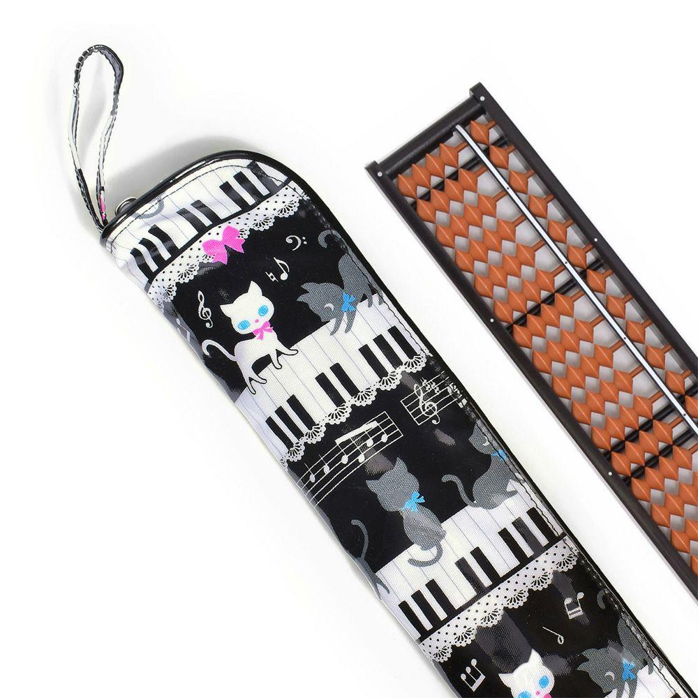 樹脂製 そろばんセット ピアノの上で踊る黒猫ワルツ(ブラック)_1