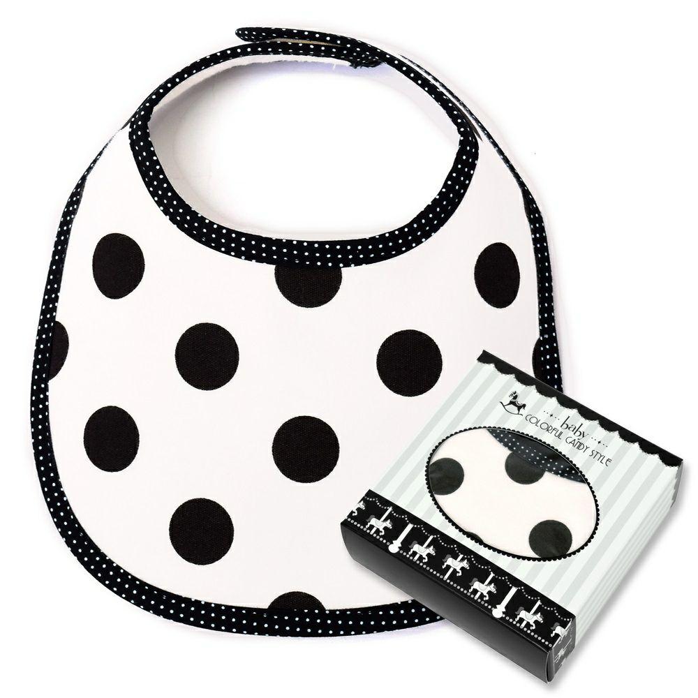 ベビーギフト スタイ polka dot large(white)_1