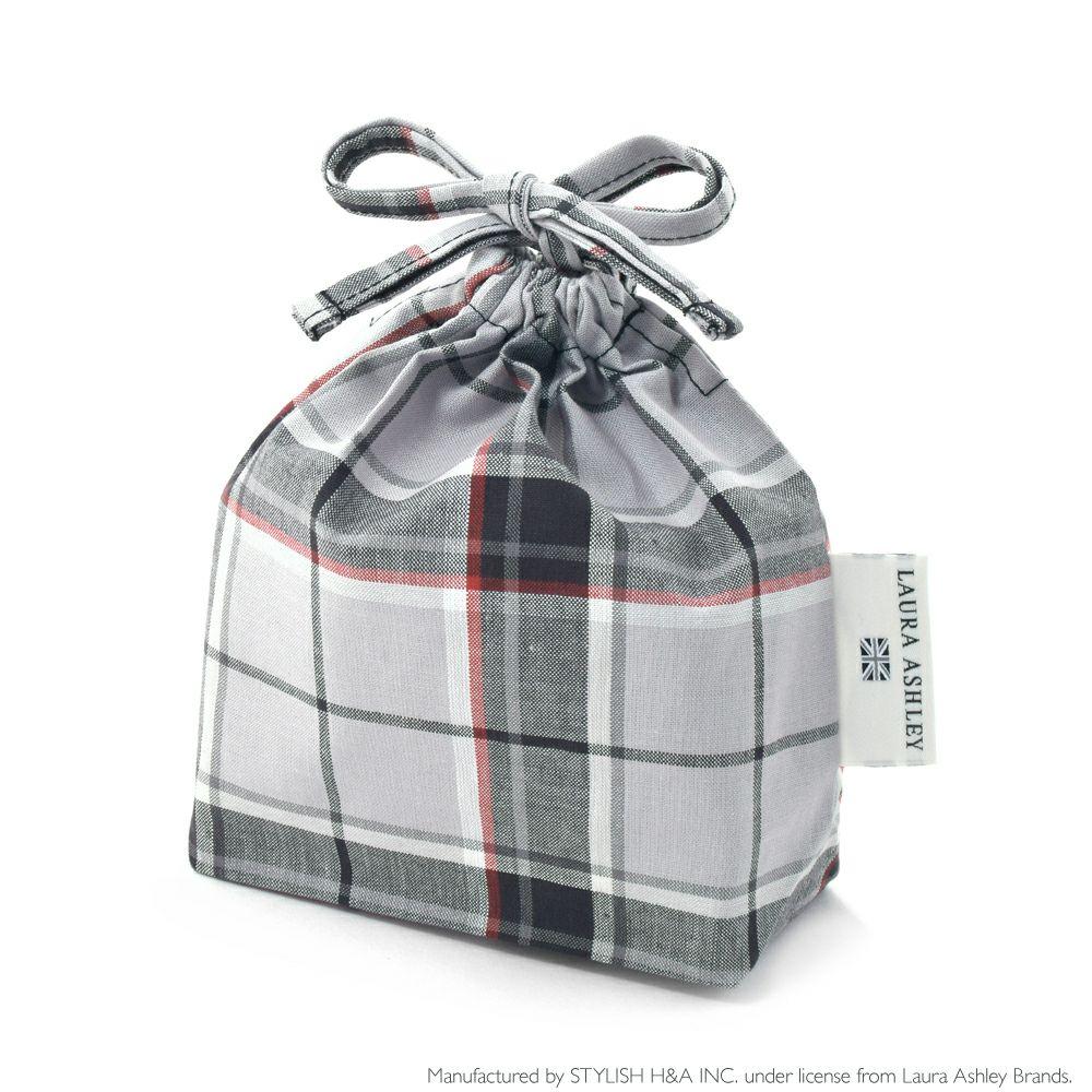 LAURA ASHLEY 巾着 小 コップ袋 Highland check_1