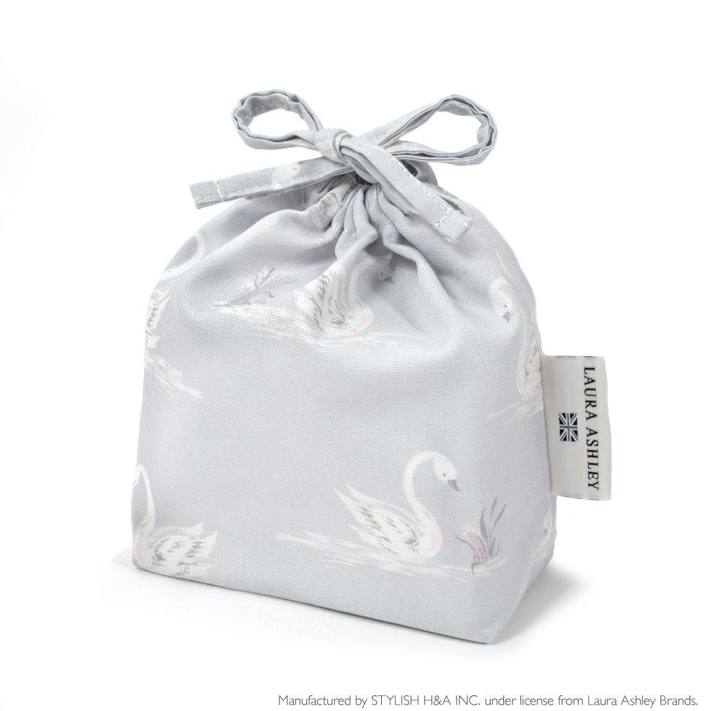 LAURA ASHLEY 巾着 小 コップ袋 Swans_1
