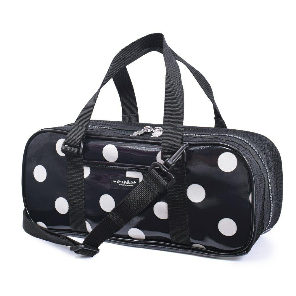 decor PolkaDot 画材・絵の具バッグ polka dot large(twill・black)_1