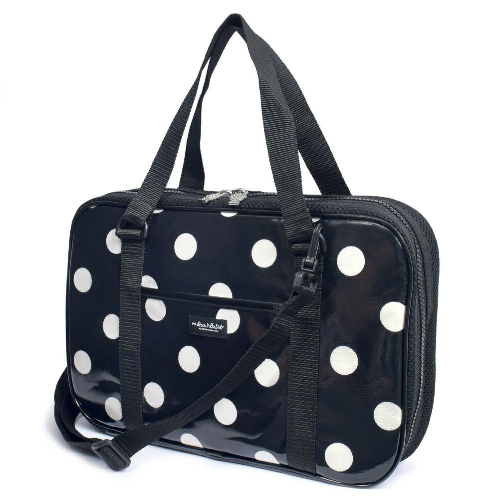 decor PolkaDot 書道・習字バッグ polka dot large(twill・black)_1