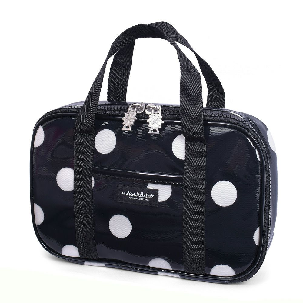 decor PolkaDot 裁縫・ソーイングバッグ polka dot large(twill・black)_1