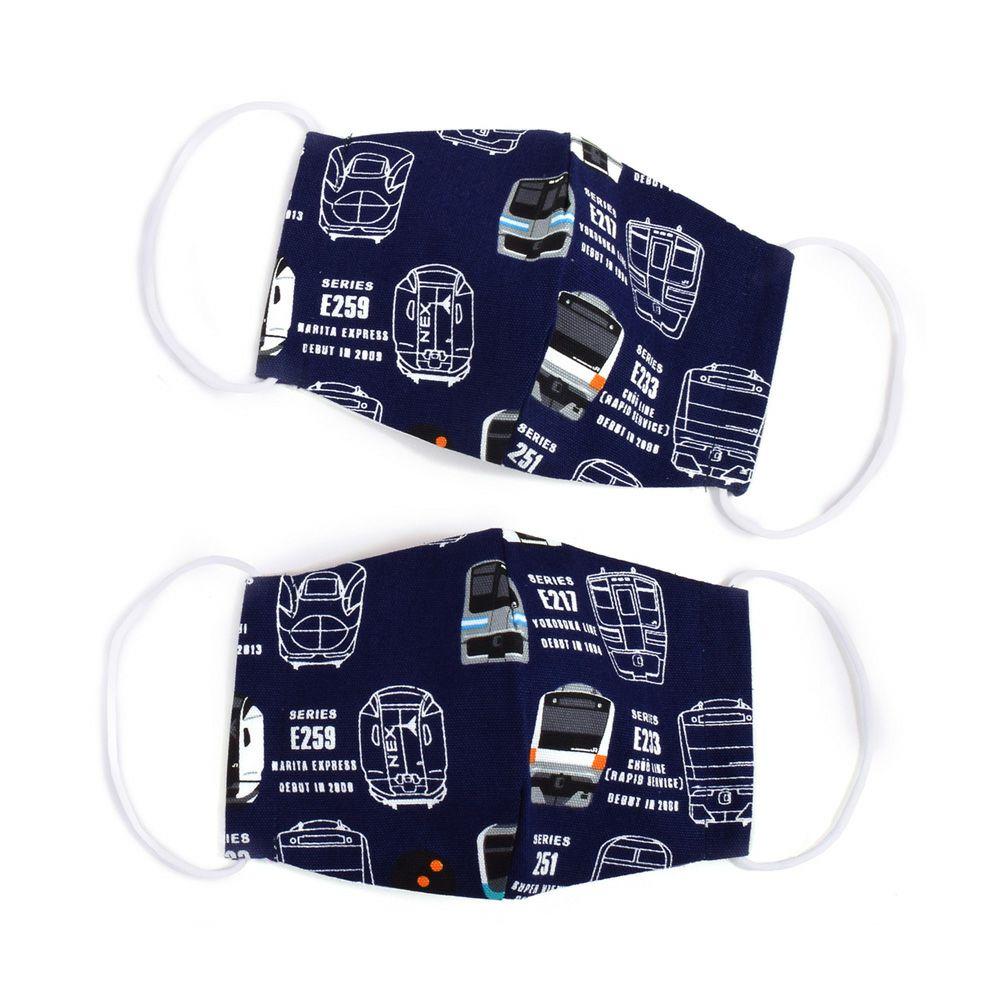 子ども マスク 2枚セット(銀イオン抗菌ガーゼ) 電車コレクション※JR東日本商品化許諾済_1