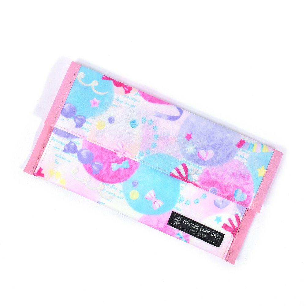 抗菌 マスクケース ダブルポケット(携帯用・日本製) ふわふわキュートなキャンディポップ_1